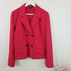 Peck & Peck Women's Red Double Button Blazer Sz 10